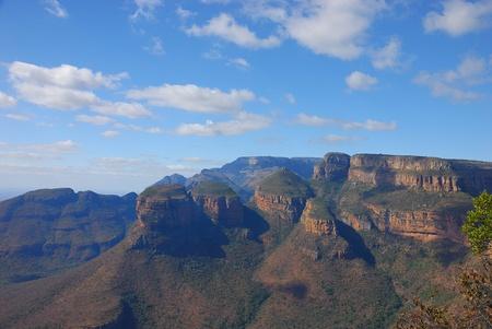 Trois rondawels, Afrique du Sud Banque d'images