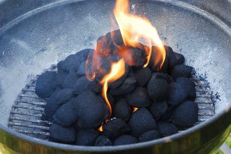 Barbeque fire photo