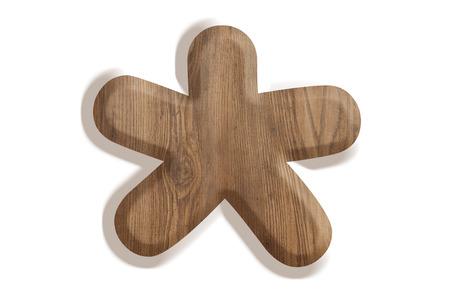multiplicar: Signo se multiplican de madera en el fondo blanco Foto de archivo