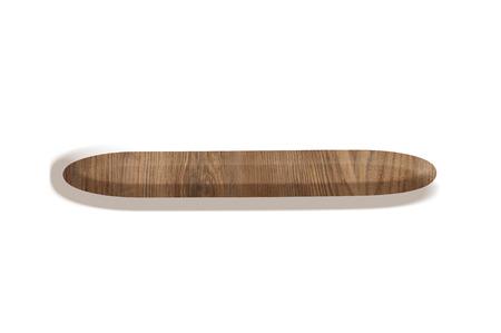 Signe de soustraction en bois sur fond blanc