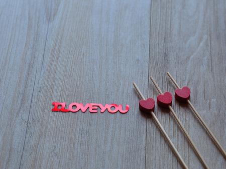 Je te aime et trois coeurs