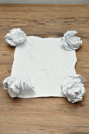 crumbled: Crumbled paper