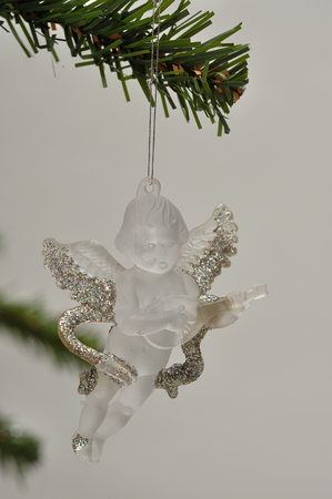 see through: A see through angel Christmas tree decoration