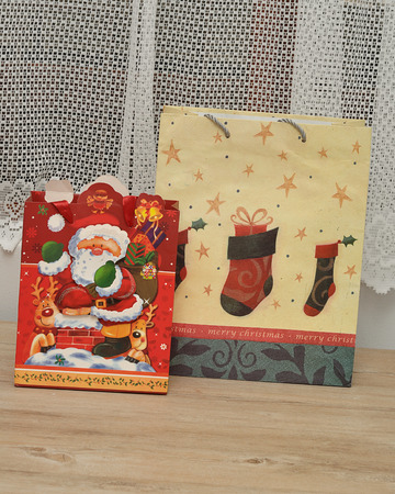 gift bags: Colorful christmas gift bags