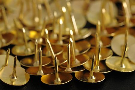 Bronze thumb tacks