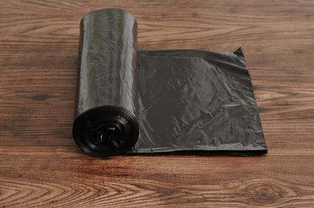 黒いゴミ袋のロール