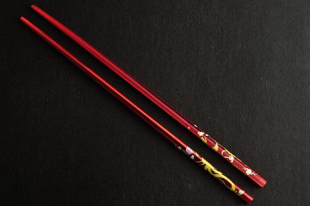 chop sticks: A pair of chop sticks