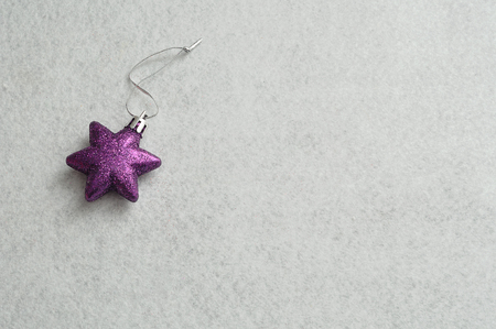 decorate: Purple star to decorate a christmas tree