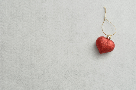 decorate: Red heart to decorate a christmas tree