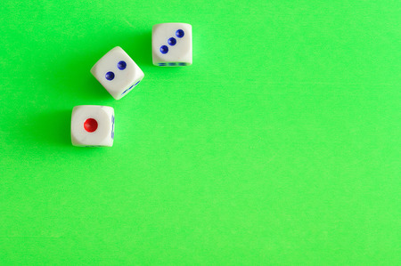 Dices 1 to 3 Stock Photo