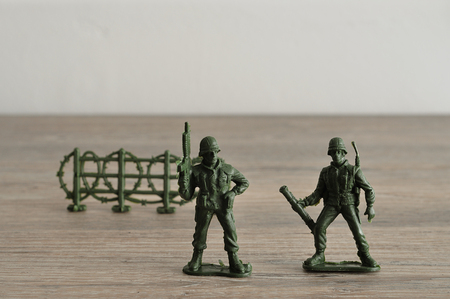 Plastic toy army figurines