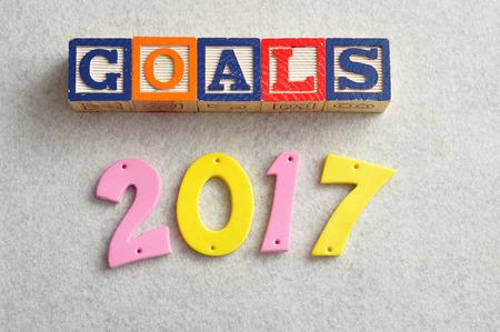 Goals 2017 Stock Photo