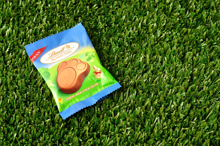 lindt: Kwa Zulu Natal - 21 March 2017 - Lindt Bunny paw for easter displayed on artificial grass