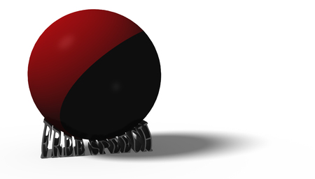 fascism: 3D illustration.  Antifa flag in a ball crushing the words free speech Stock Photo