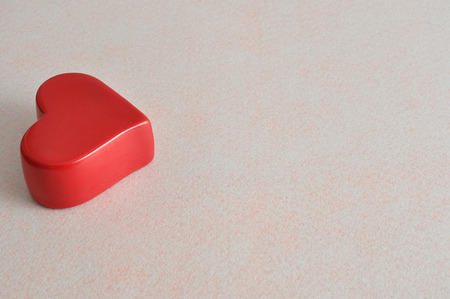 Valentines day. A red heart Stock Photo