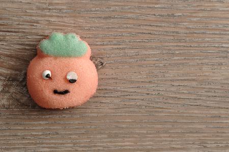 A peach shape marshmallow
