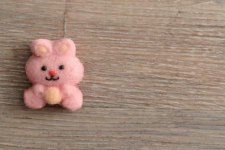 A pink bunny shape marshmallow Stock Photo