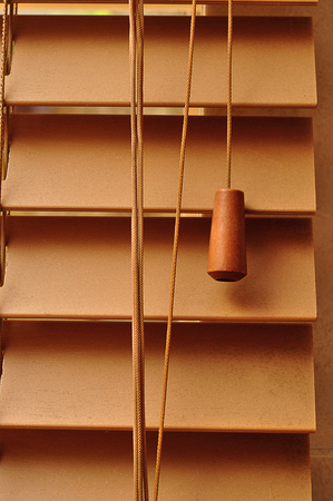 A close up of a wooden blind Stock Photo