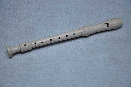 A block flute displayed on a white background Stock Photo