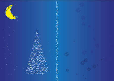 Postcard for christmas and New Year Vector