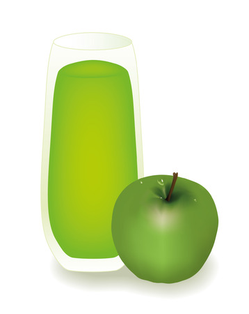 Apple juice Stock Vector - 8976976