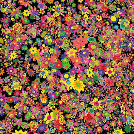 Flowers field Stock Vector - 8977109