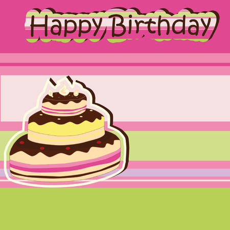 Greeting card with birthday  Stock Vector - 8977087