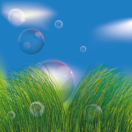 Bubbles in the grass. EPS10 Stock Vector - 9026792