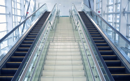 going up:   The escalator