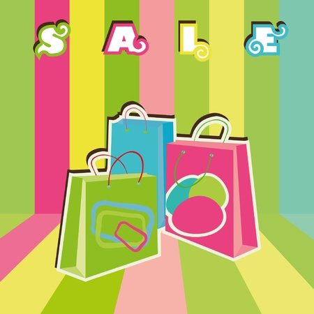 sellout: Sale shopping bags. EPS10