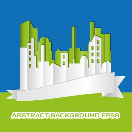 CITYSCAPE. Vector illustration. Stock Vector - 9655362