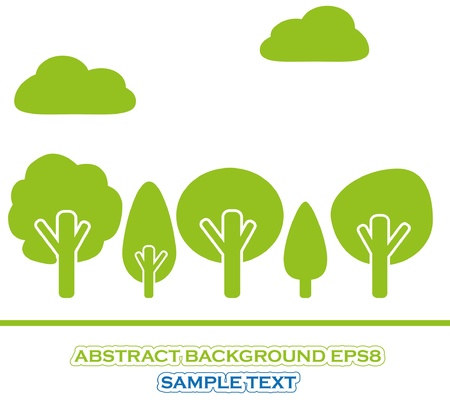 Set of green tree Stock Vector - 9721121