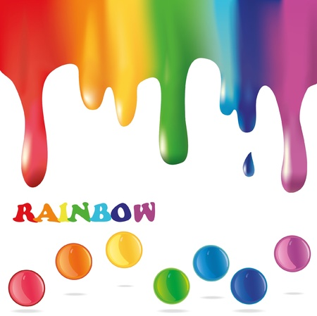 paint drips: Colorful paint background. Abstract rainbow