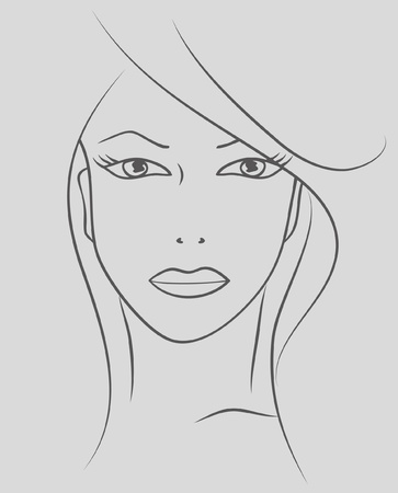 Beauty face woman. Vector illustration. EPS8 Stock Vector - 9774416