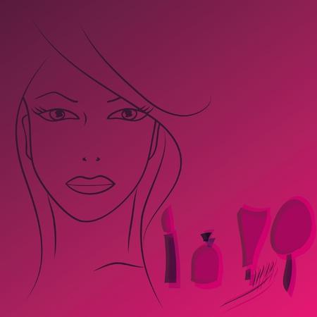 Beauty face woman. Vector illustration. EPS8 Vector