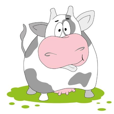 Cow. Funny vector illustartion Stock Vector - 9774405