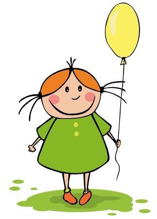 Grappig meisje met ballon