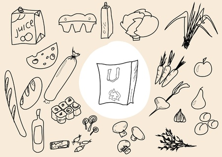 tinned: Food scetch Illustration