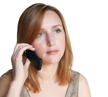 Beautiful woman calling by phone Stock Photo - 9774240