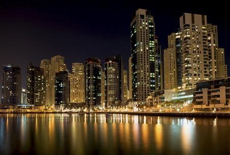 Nacht stad Stockfoto