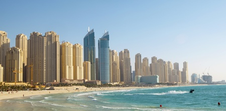 Beach in Dubai. Panoramic view Stock Photo