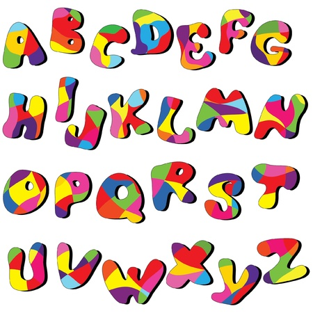 full cartoon alphabet . Vector clip art from A to Z Vector