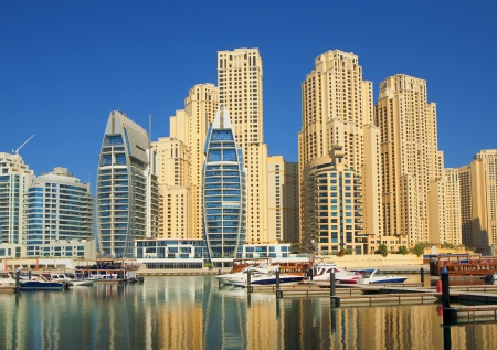 Town scape at summer. Dubai Marina. photo