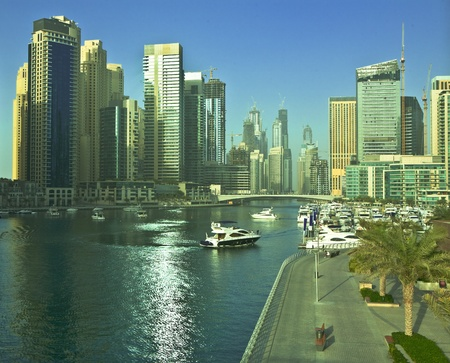 Town scape at summer. Dubai Marina. Stock Photo - 9849114