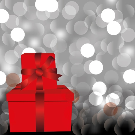 Abstract background with present boxes Vector