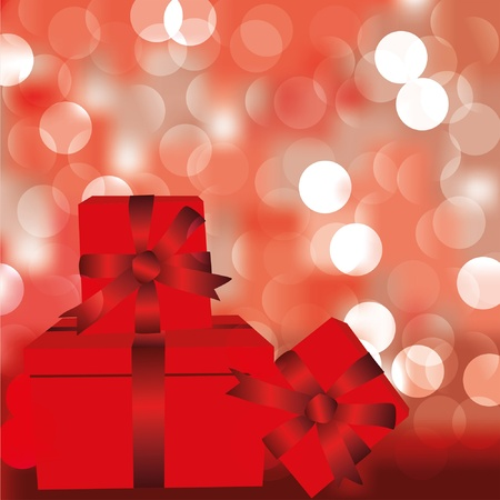 Abstract background with red box for present. EPS10 Vector