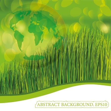 Green planet earth (The base map http://visibleearth.nasa.gov) Stock Vector - 9849182