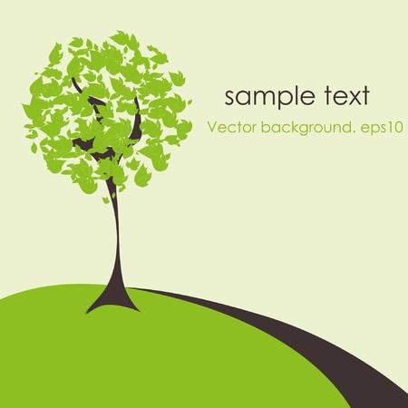 Árbol estilizado abstracto Ilustración de vector