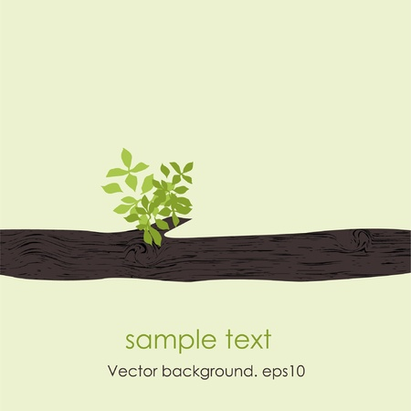 Card with stylized vector tree . EPS10  Vector