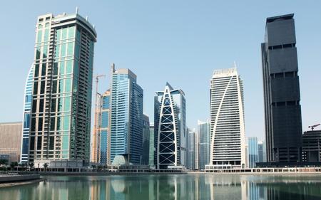 dubai mall: Town scape at summer. Dubai Marina. Stock Photo